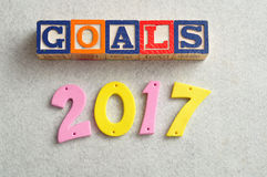 Ziele 2017 Lizenzfreies Stockbild