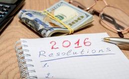 2016 Ziele begrifflich auf hölzernem Lizenzfreies Stockfoto
