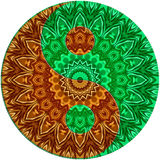 Zieleń - Brown ying Yang Zdjęcia Stock