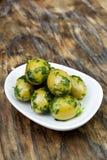 ziele chlebowe świeże zielone oliwki Zdjęcia Royalty Free