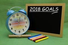 2018 Ziele des neuen Jahres Lizenzfreies Stockbild