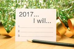Ziele des neuen Jahres Stockfotos
