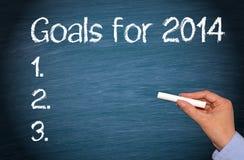 Ziele für 2014 Stockbild