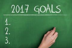 Ziele für Konzept 2017 des neuen Jahres Lizenzfreie Stockfotografie