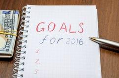 ZIELE für Mitteilung 2016 Lizenzfreies Stockfoto