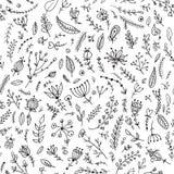 Ziele i kwiatów bezszwowy wzór Obrazy Stock