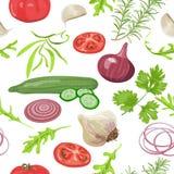 Ziele i warzyw wzór Zdjęcie Royalty Free