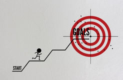 Ziele im Geschäftskonzept lizenzfreie abbildung