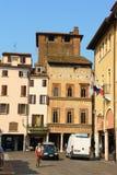 Ziele kwadrat w w centrum Mantua, Włochy Obraz Stock