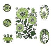Zieleń kwiaty Royalty Ilustracja