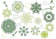 Zieleń kwiaty Ilustracja Wektor
