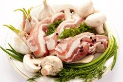 ziele mięso rozrasta się surowe pl pikantność Fotografia Stock