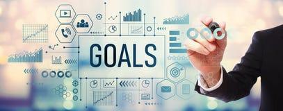 Ziele mit Geschäftsmann lizenzfreie abbildung