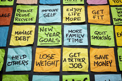 Ziele oder Beschlüsse des neuen Jahres Stockfoto