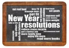 Ziele oder Beschlüsse des neuen Jahres Stockfotos