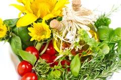 ziele oliwią słoneczników pomidory Zdjęcia Royalty Free