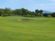 zieleń pole golfowe Obraz Royalty Free