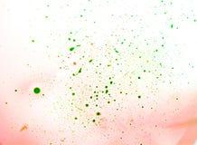 Zieleń punkty farba Obrazy Stock