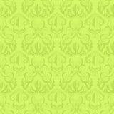 Zieleń retro kwiecisty wzór Obrazy Royalty Free