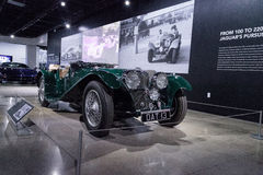 Zieleń 1937 SS 100 Jaguar Fotografia Royalty Free
