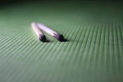 zieleń tkaniny zieleni matchstick Fotografia Royalty Free
