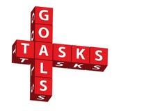 Ziele und Aufgaben Stockbilder