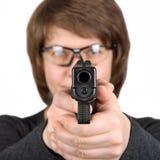 Ziele vor Schuss lizenzfreie stockfotos