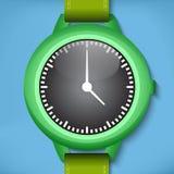 Zieleń zegarki Zdjęcia Stock