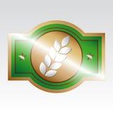 zieleń znaczek Zdjęcie Stock