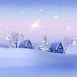 Zieleinheit des Schnees landscape Stockfotografie