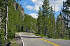 Zieleinheit Yellowstone lizenzfreies stockbild