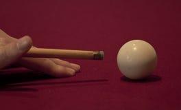 Zielen der weißen Kugel Stockbild