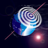 Zielen Sie die Welt für Erfolg Lizenzfreies Stockfoto