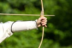 Zielen von Bogenschützen stockfoto