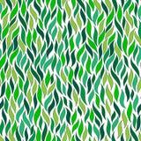 Zieleni abstrakcjonistyczni kolorowi liście ilustracja wektor