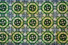 Zieleni azulejos tradycyjne ceramiczne płytki fotografia stock