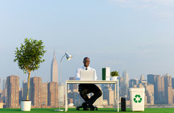 Zieleni Biznesowi pojęcia Plenerowi z Miastową sceną Zdjęcie Royalty Free