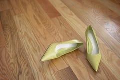 zieleni buty Zdjęcia Royalty Free