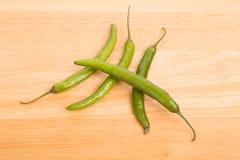 zieleni chili pieprze cztery Zdjęcie Stock