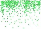 Zieleni confetti ilustracja wektor