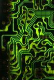zieleni czarny pcb Obrazy Stock