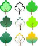 Zieleni drzewa. Wektorowa ilustracja Obraz Stock