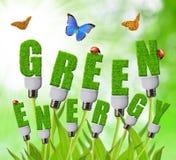 Zieleni energetyczni pojęcia Obraz Royalty Free