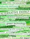 zieleni energia nagłówki Obrazy Royalty Free