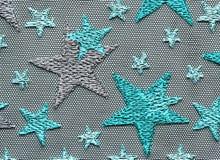 Zieleni gwiazd koronkowej materialnej tekstury makro- strzał Fotografia Royalty Free