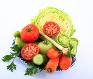 Zieleni i świezi sałatkowi składniki Zdjęcie Stock