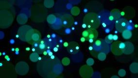Zieleni i błękita świateł abstrakta tło Obraz Royalty Free