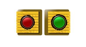 Zieleni i czerwoni guziki dla strony internetowej Zdjęcie Royalty Free