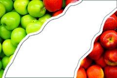 Zieleni jabłka i czerwony jabłka tło Fotografia Royalty Free
