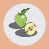 Zieleni jabłka ilustracji